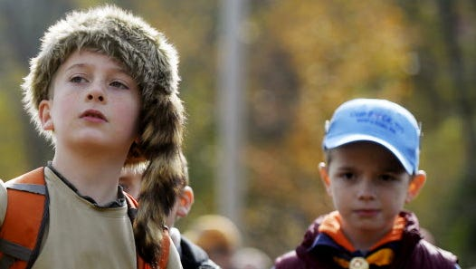 Cooper Dietz, 8 of Spring Garden Township, tries his hand at lassoing during New Birth of Freedom Boy Scout Council's eighth Wizard Safari on Saturday, Oct. 24, 2015, at Wizard Ranch in Hellam Township.
