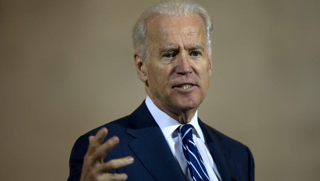 Vice President Joe Biden speaks at a news conference at 30th Street Station in Philadelphia on Thursday, Feb. 6, 2014.