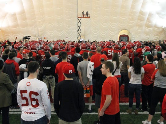 Rutgers students had an up-close view when football