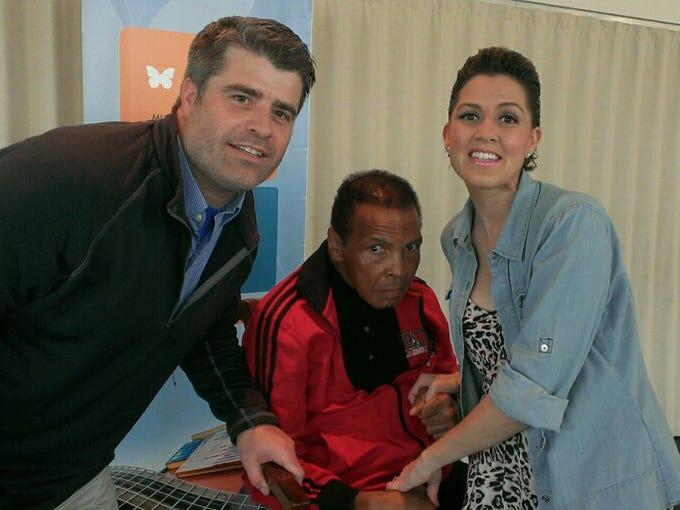 Bart and Jill Conley met Muhammad Ali, Wednesday, at