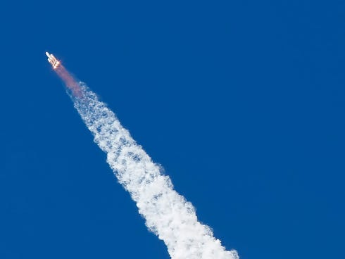 A National Reconnaissance Office satellite is launched into orbit in August 2013.