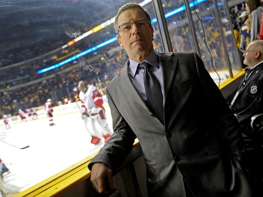 Paul Fenton in 2013, when he was assistant general manager for the Predators.