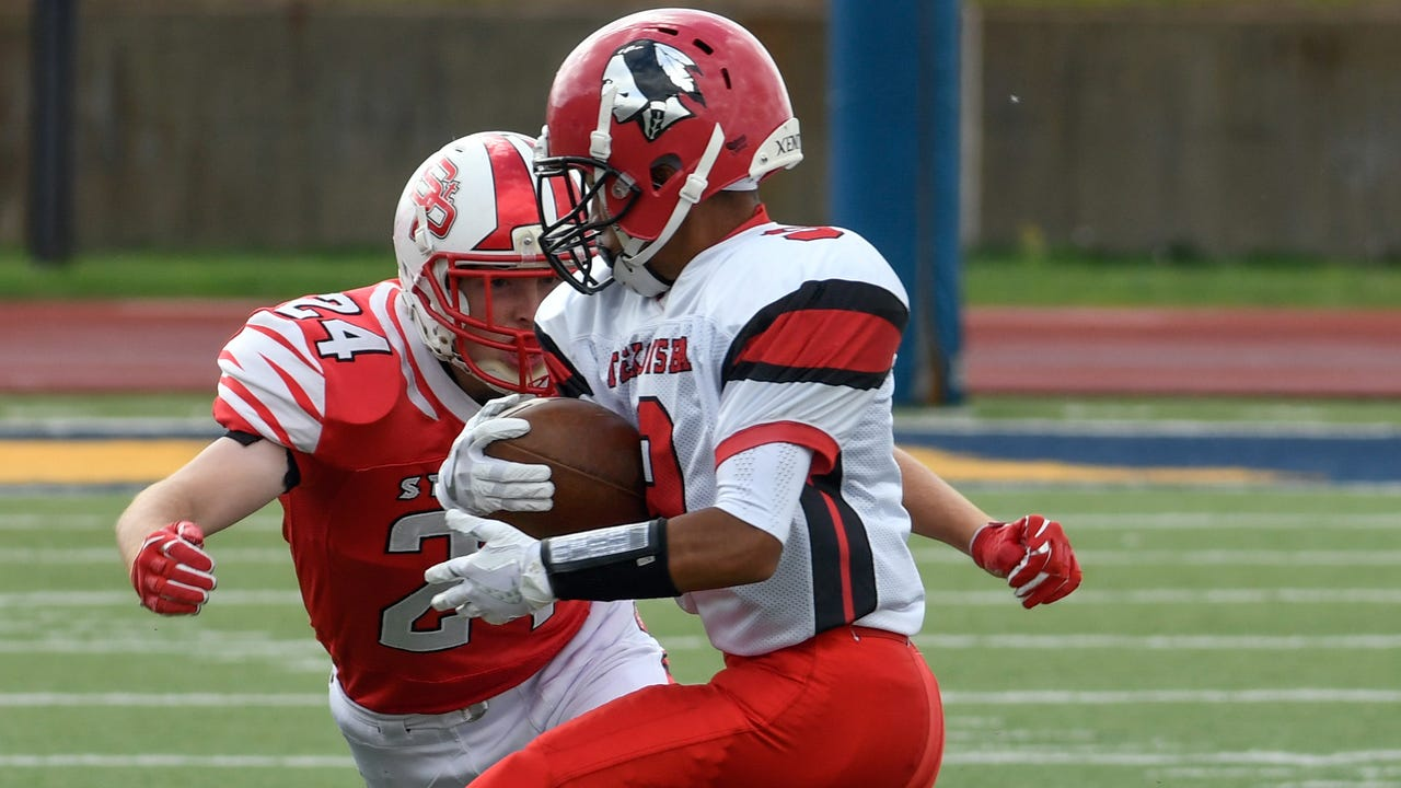 Tekonsha holds on for 14-12 victory over St. Philip - the Indians' first-ever win over the Tigers.
