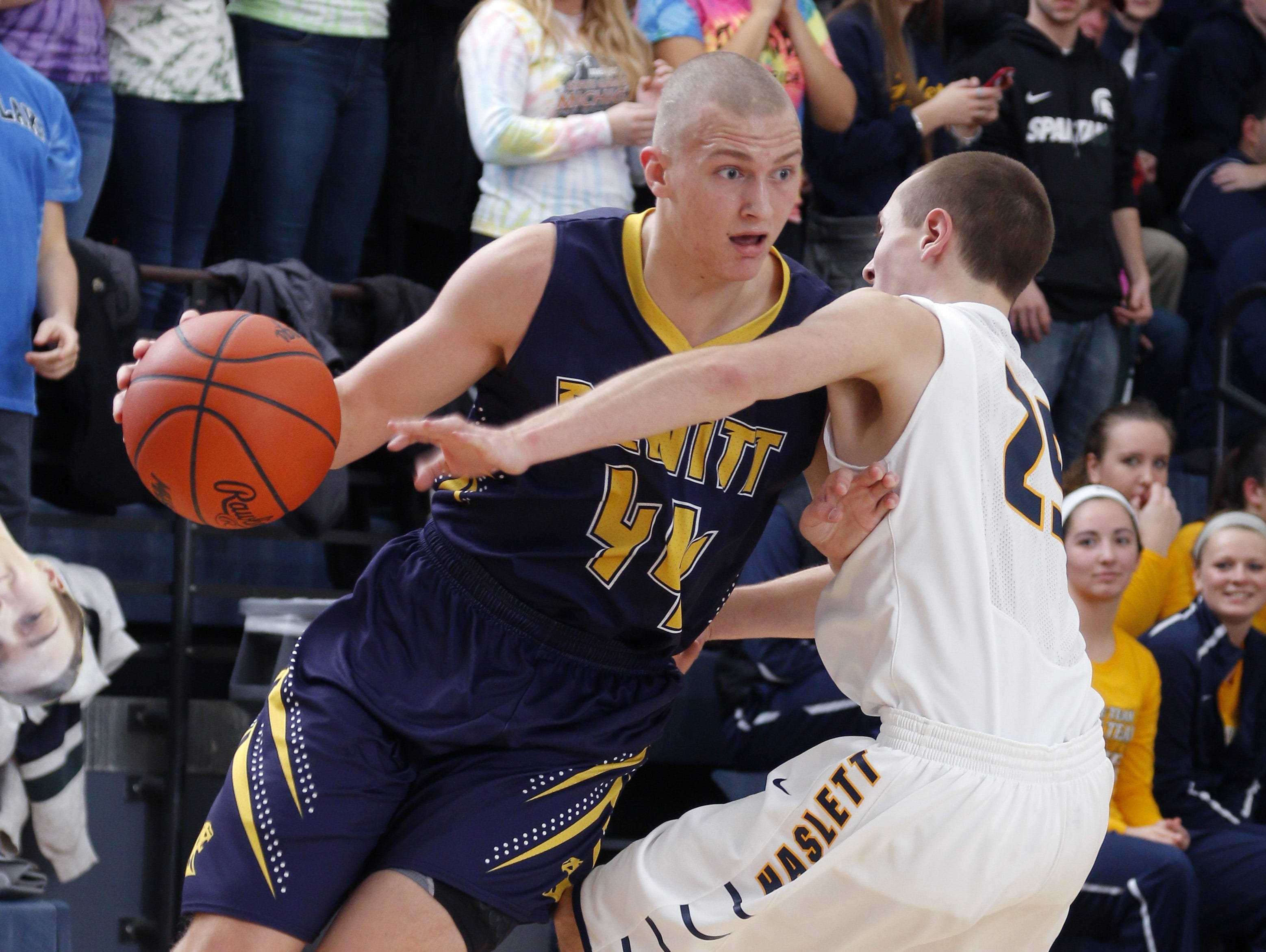 Tanner Reha is the top returning scorer for defending CAAC Red champion DeWitt.