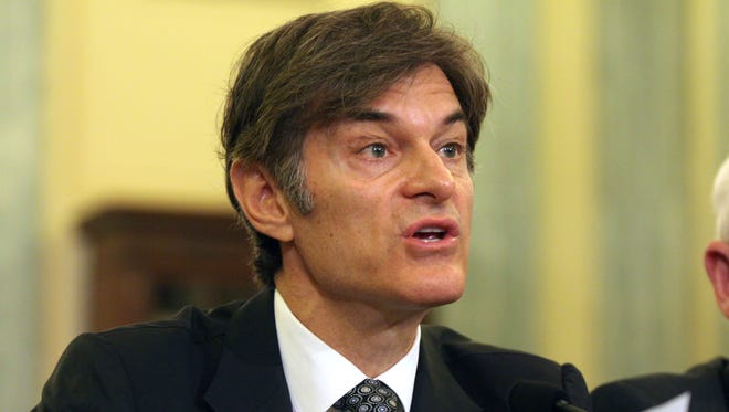 Dr. Mehmet Oz, vice chairman and professor of surgery, Columbia University College of Physicians and Surgeons, testifies on Capitol Hill in Washington, D.C., in June 2014.