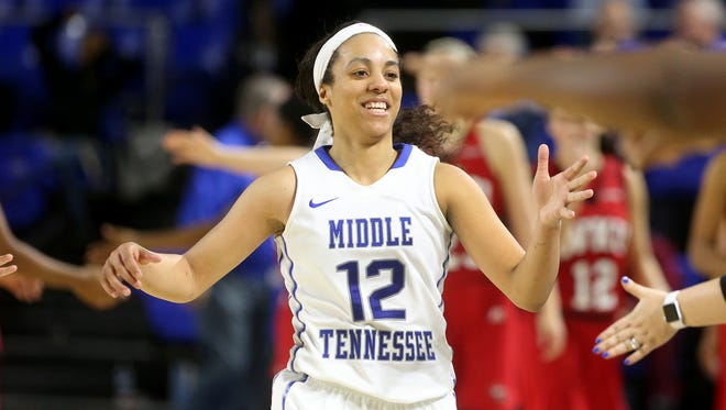 MTSU's Brea Edwards (12) transformed over the past year to become one of Conference USA's top players.