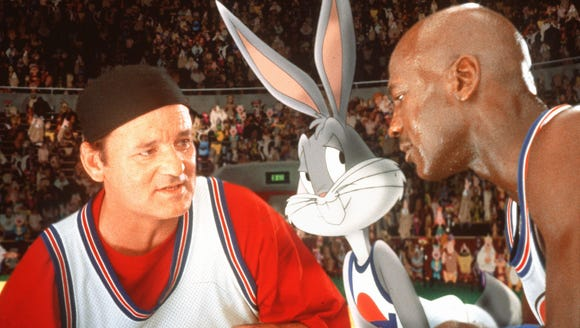 Bill Murray, Bugs Bunny, and Michael Jordan draw up