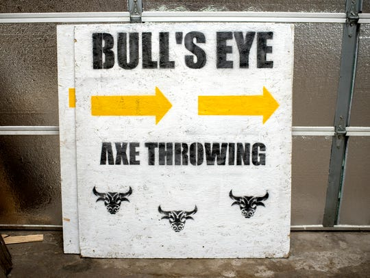 A sign photographed on Friday, July 13, 2018, at Bull's