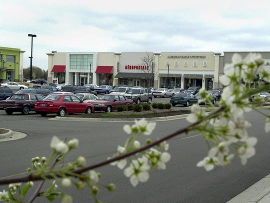 The exterior of a small section of the Eastwood Towne Center in Lansing Township