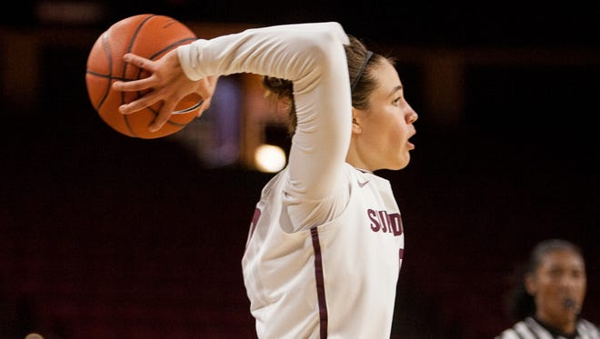 Katie Hempen led the Sun Devils with 11 points before 5,061 in the Sparky's Kids to College matinee at Wells Fargo Arena.