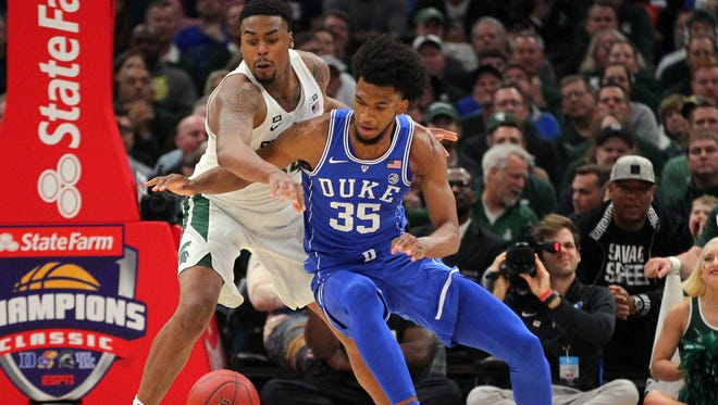 Nick Ward and the Spartans open up in the Champions Classic Tuesday night in Indianapolis, tipping off the college basketball season as much of the country focuses on an election.