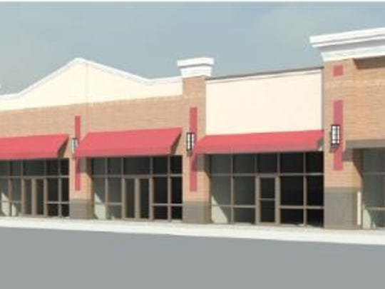 Gateway Plaza would feature this retail center and three buildings for restaurants.
