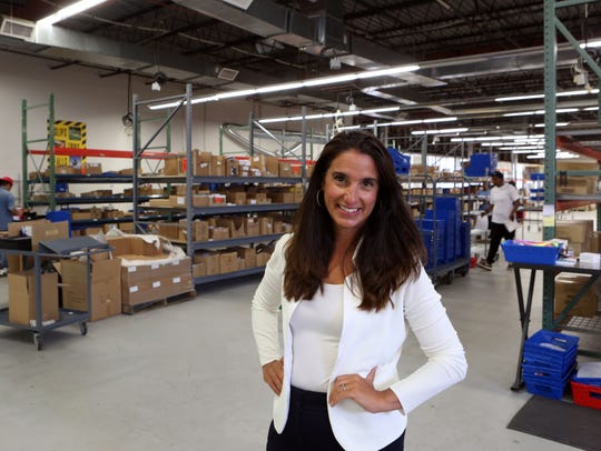 Michele Gay, CEO of LimeLight by Alcone, at the warehouse