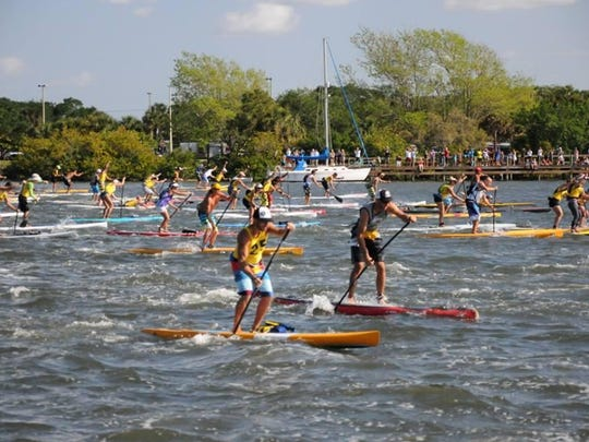 Paddlers will race 5 miles round-trip in the Florida