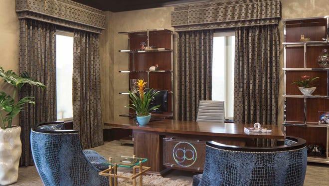 Interior design of attorney offices for Grady Abrahams in Lafayette, Louisiana designed by Monique Breaux of POSH Interiors.