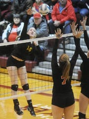 Junior Lauren Hunter is a three-year starter on the outside and an all-state hitter.l