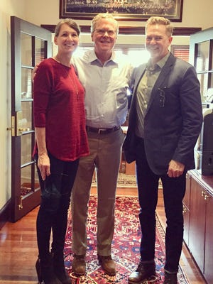 On Thursday, Feb. 8, Springfield residents Brett and Betsy Miller met with Jeb Bush, former Florida governor and candidate for the 2016 Republican presidential nomination.