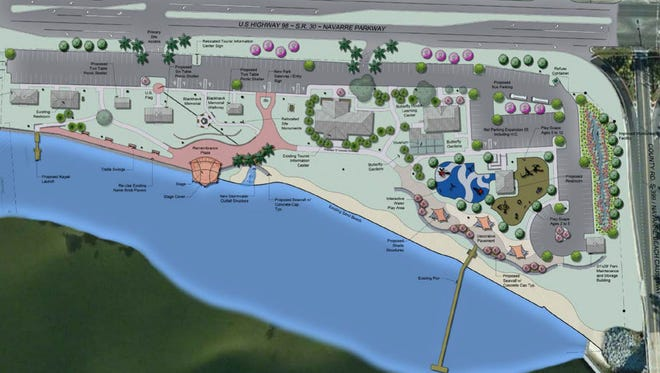 Santa Rosa County Commission is considering a $6.3 million proposal for upgrades to Navarre Park on U.S. 98.