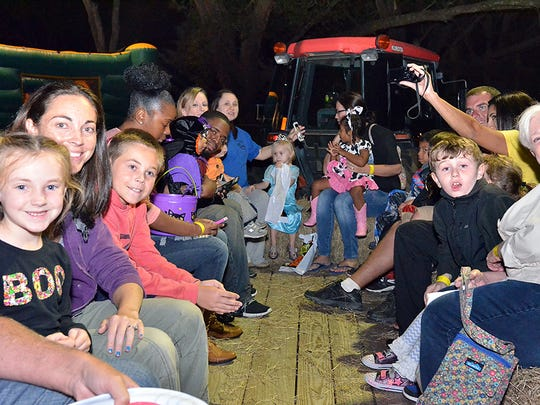 Have some fun on the hay ride at ZooBoo.