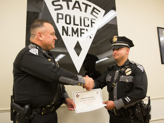 New Mexico State Police awards outstanding officer