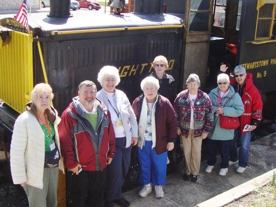 A group of 46 seniors, part of the Happy Wanderers,took