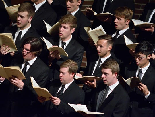 Members of University Chorale and State Singers will