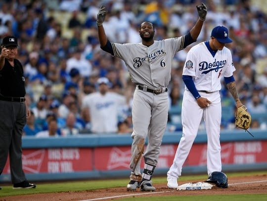 """Lorenzo Cain celebrates before heading home on a """"Little"""