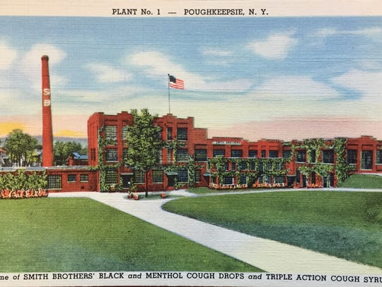 A post card of Smith Brothers plant No.1, which was located in the City of Poughkeepsie.