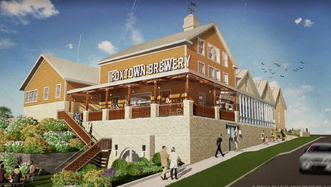 The proposed Foxtown Brewing Company would be housed in a historic two-story building that was used as a brewery in the 1850s. The brewery is proposed as the anchor of the third phase of the Mequon Town Center project, which would include restaurants, retail, luxury apartments and single-family homes.
