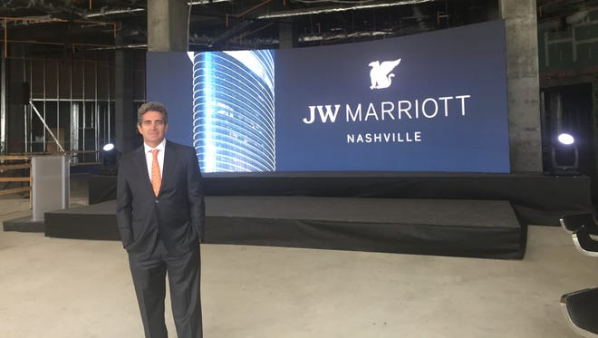 Jeff Soffer is co-developer of the JW Marriott Nashville that's rising at Eighth and Demonbreun.