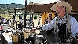 The chuckwagon cooking competition is a big draw at the annual Lincoln County Cowboy Symposium.