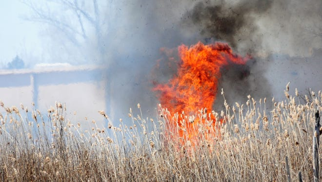 Warm, windy weather increases wildfire risk throughout the state.