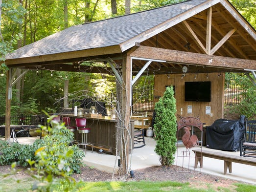 There are some amazing outdoor spaces at homes in the