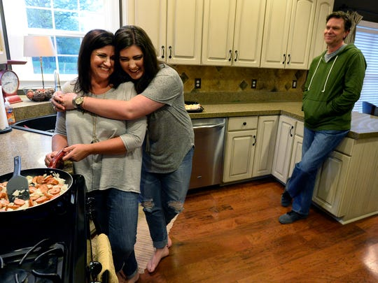 Courtney Greene, 20, spends time with her mother, Tammy,
