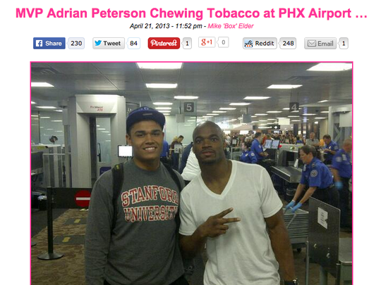 This photo of Adrian Peterson is from 2013