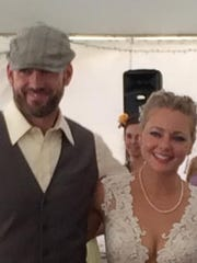 J.T. Codd and Cristie Schoen Codd at their wedding