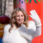 Jennifer Nettles rides a float at the Macy's Thanksgiving Day parade.