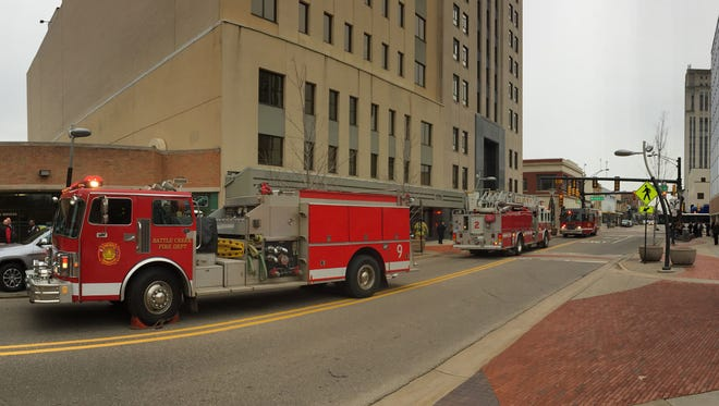 Firefighters were called to the Battle Creek Tower at around 1:45 p.m. Wednesday. Occupants were briefly evacuated.