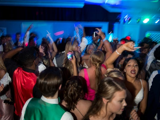 Students dance during Central's prom at SWIRCA & More on Saturday, May 5, 2018.