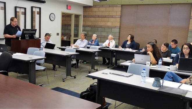 Rate review training for UCAG members, LCU Board member, and LCU staff, led by NMSU professors from the Department of Economics and the Center for Public Utilities.