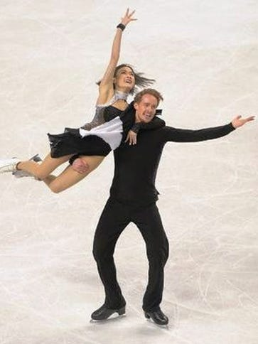 Novi's Madison Chock and partner Evan Bates won the