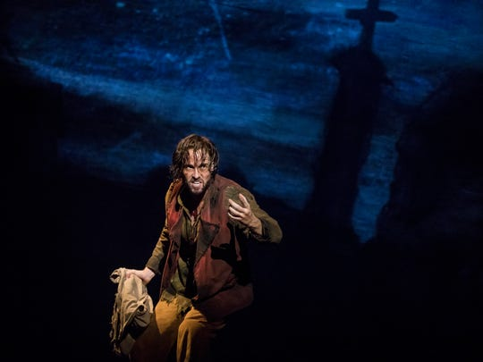 "Nick Cartell as Jean Valjean in the national tour of ""Les Miserables."""
