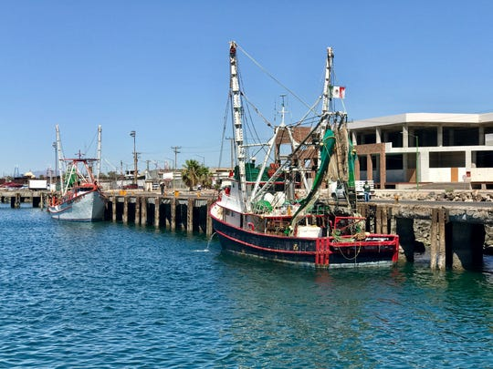 A shrimp boat in Puerto Peñasco