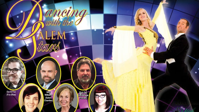 """Six local stars will compete in """"Dancing with the Salem Stars,"""" a fundraiser for the Historic Elsinore Theatre at 7:30 p.m. March 19. They will be joined by professional dancers from Utah Ballroom Dance Company. Carlee Wright, Statesman Journal entertainment reporter, is one of the featured stars."""