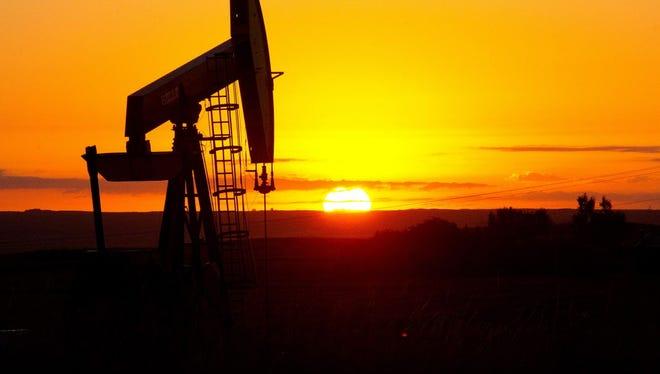 An oil well near Tioga, N.D.