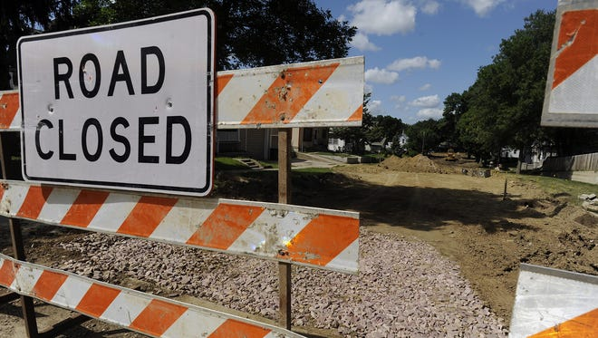 Various Sioux Falls streets are closed this week for bridge inspections, utility installation and repairs.