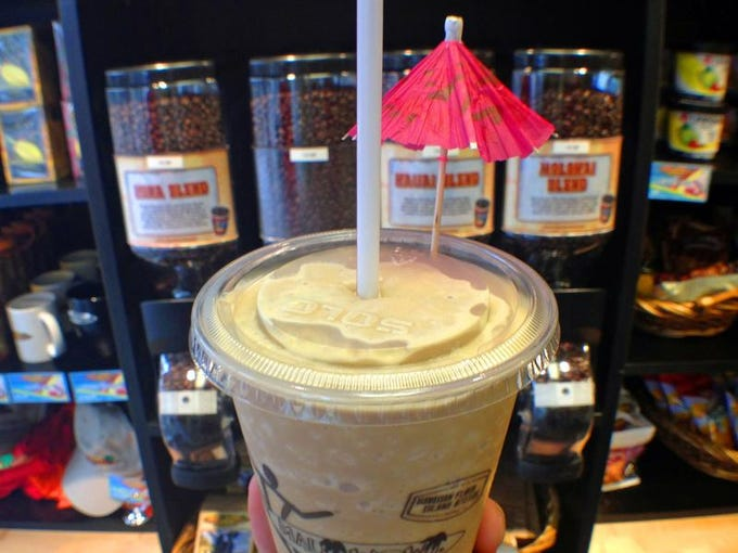The Cappuccino Honu is a signature coffee-smoothie at Maui Wowi at Miromar Outlets in Estero.