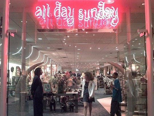 All Day Sunday offered a mix of clothing, jewelry, African sculpture and more.