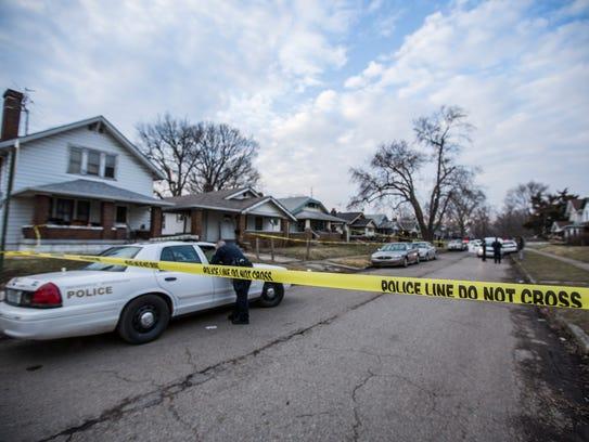 Police cordon off the 700 block of Grant Avenue where