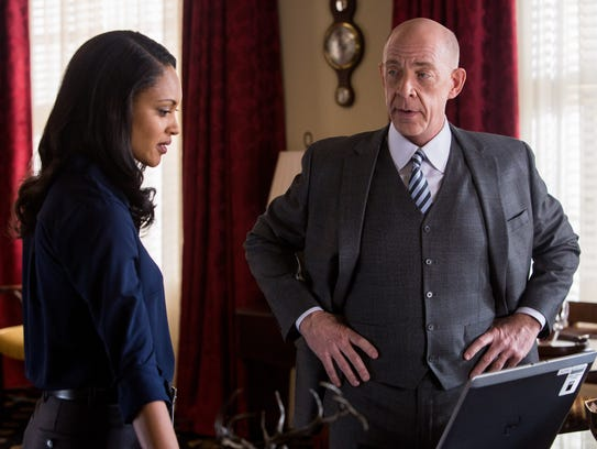 Cynthia Addai-Robinson and J.K. Simmons play federal